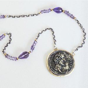 Silver Coin Necklace