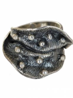 Contemporary Silver Fold Ring