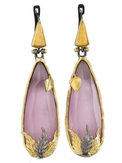 Cosmo Pink Sapphire Earrings