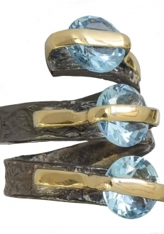 Blue Topaz Stacked Ring