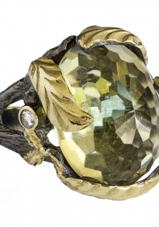Citrine Leaf Ring