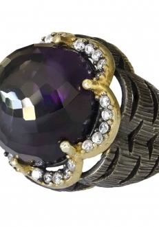 Domed Amethyst Ring