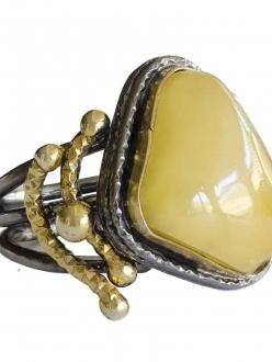 Rare Honey Amber Ring