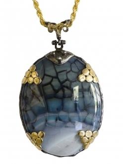 Rare Blue Agate Pendant