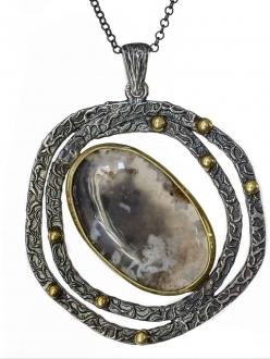 Rare Agate Swirl Pendant