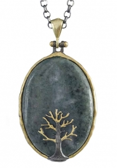 Bloodstone with Tree Pendant
