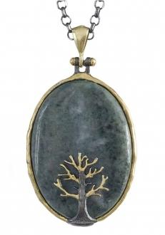Bloodstone with Tree Pendant
