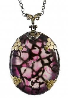 Rare Pink Agate Pendant