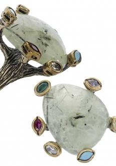 Quartz in Multi-Stone Setting Ring