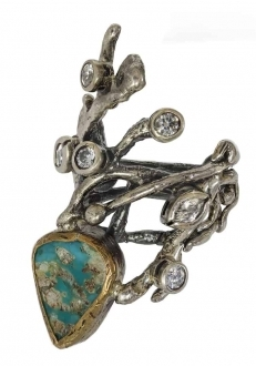 Turquoise Branch Ring