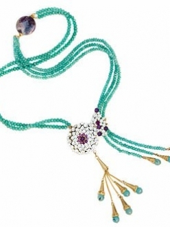 Emerald and Swarovski Crystal Lariat