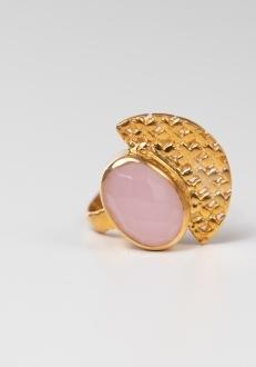 Cosmo Pink Quartz RIng