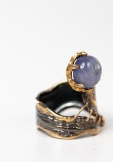 Cat's Eye Moon Ring