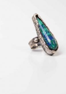 Azurite Malachite Energy Ring