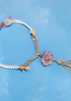 Silk, Pearl, Amethyst, Topaz, Multi-Color