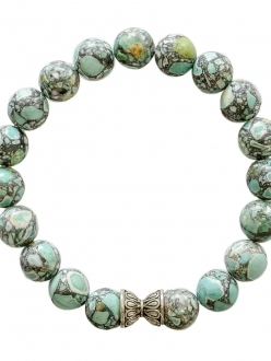 Turquoise Bracelet with Silver Accent