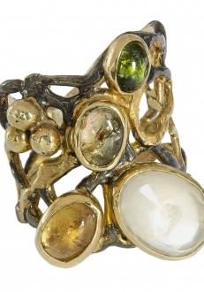 Multi-Stone Contemporary Ring